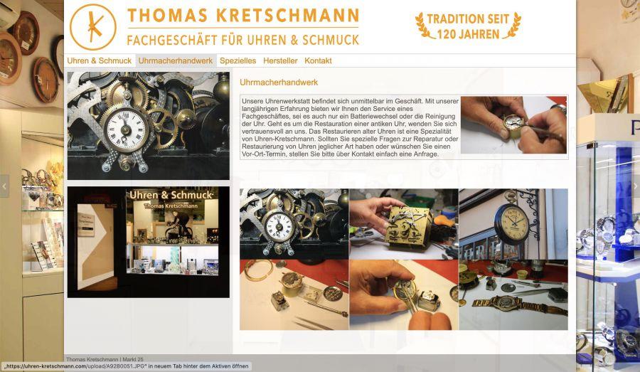 Thomas Kretschmann - Fachgeschäft für Uhren und Schmuck