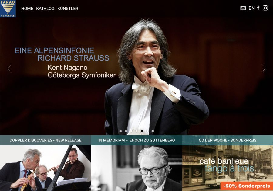 FARAO classics - FARAO classics ist eine unabhängige Plattenfirma für klassische Musik