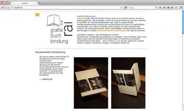 raigrafik - buchbindung | buchgestaltung, gestaltung von plakaten, cover & booklet, logos, flyer, folder sowie corporate identity & corporate design mit beratung & konzeption, künstlerbücher & freie grafik
